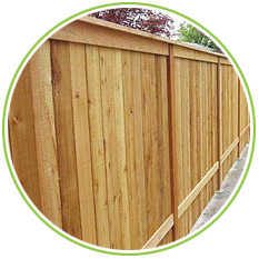 Fencing Timber example Garden Fence